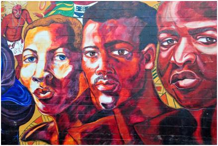 """""""Dawning of a New Day,"""" mural at 1207 7th Street North, Kansas City, Kansas"""